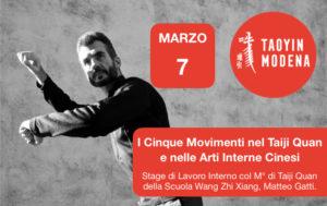 I Cinque Movimenti nel Taiji Quan e nelle Arti Interne Cinesi - Stage con Matteo Gatti @ TaoYin Modena