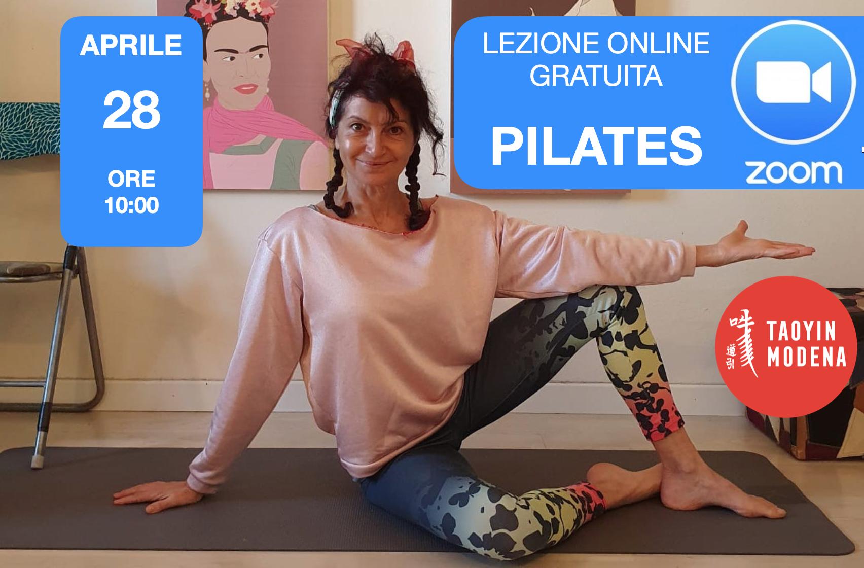 Lezione Pilates su ZOOM
